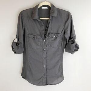 JAMES PERSE Standard Slub Button Down Shirt